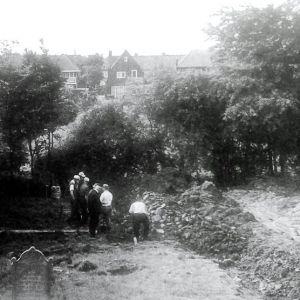 Aarkade Ruiming Joodse kerkhof 1963