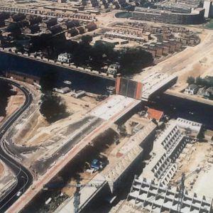 Albertschweitzerbrug in aanbouw