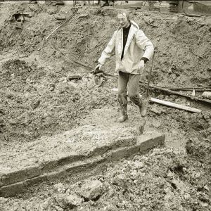 Julianastraat opgraving Romeinsemuur
