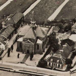 Luchtfoto Oudshoornsekerk