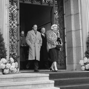 Bezoek koningin Juliana en prins Bernhard 1954