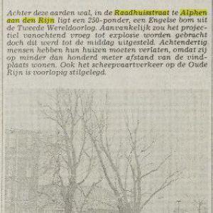 Bom uit WOII tot ontploffing gebracht in Raadhuisstraat