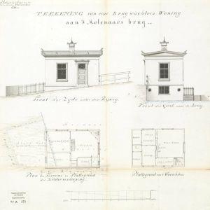 Brugwachterhuisje bij 's Molenaarsbrug