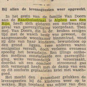 Vijf kinderen bedwelmd door gas in Raadhuisstraat